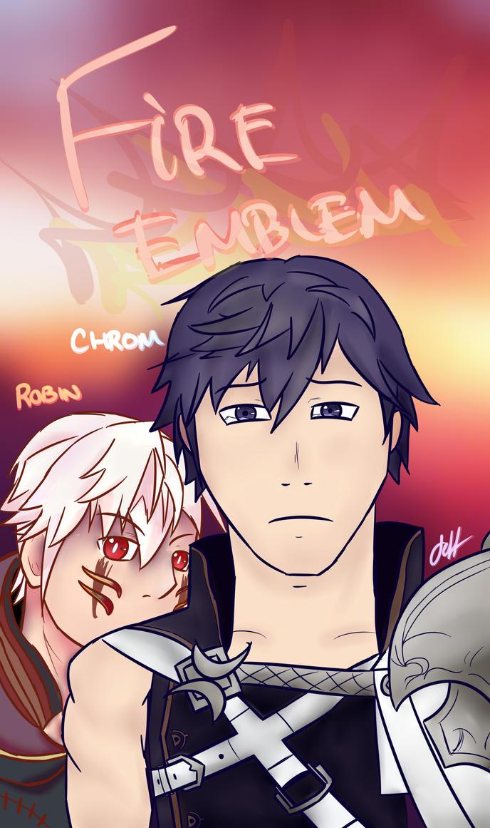 [ART TRADE, Fire Emblem] Chrom x Robin by Jeffrey-kun