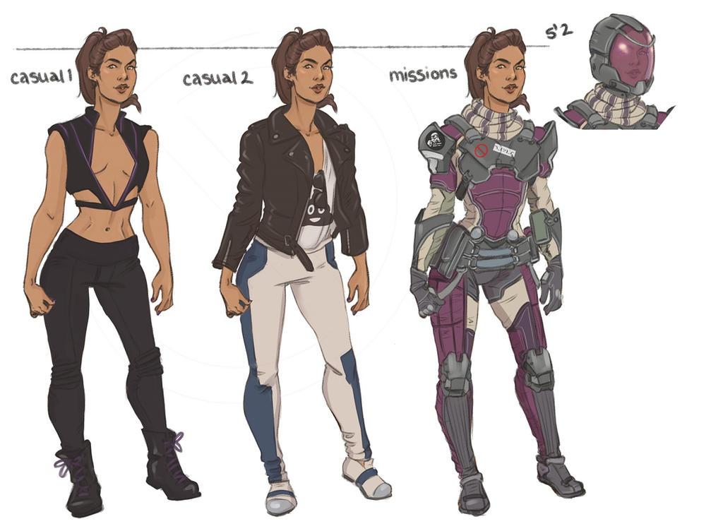 Sara Ryder Outfits by captainceranna