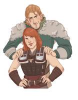 Sadie Hawke and Anders by captainceranna