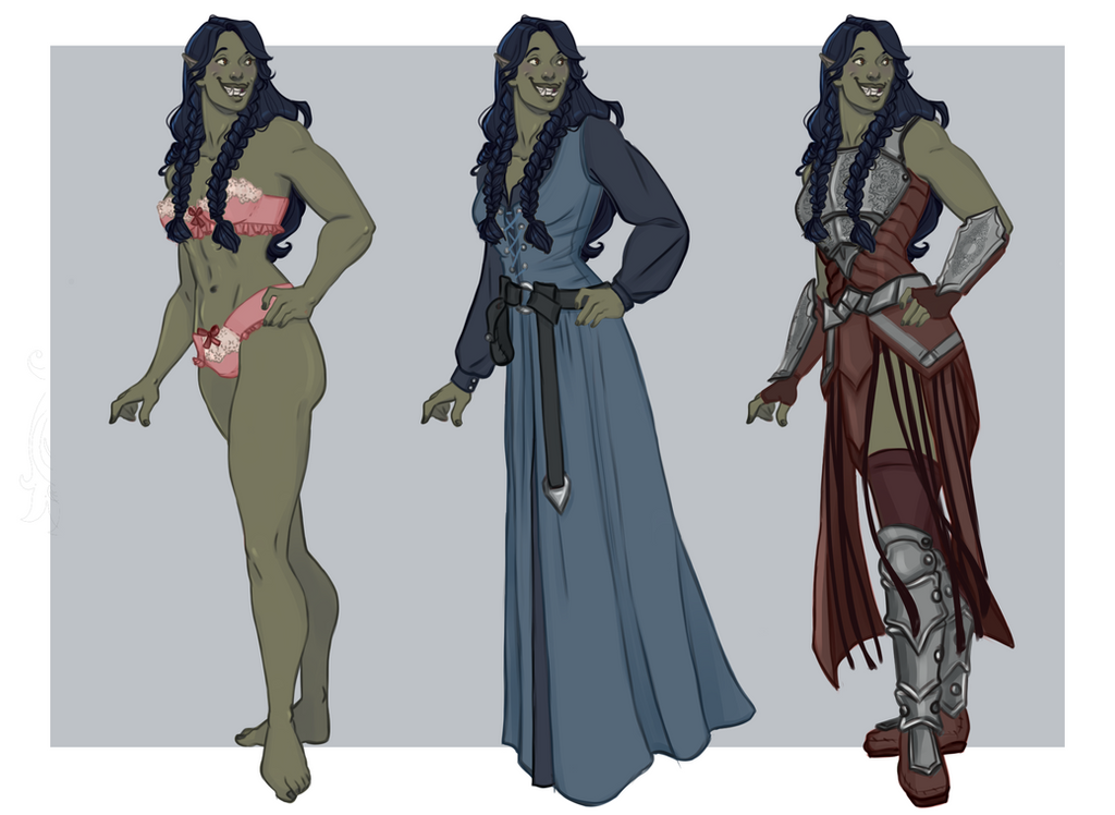Sweet Orc Lady by captainceranna