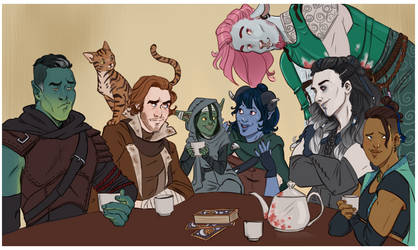 Critical Role Crew by captainceranna