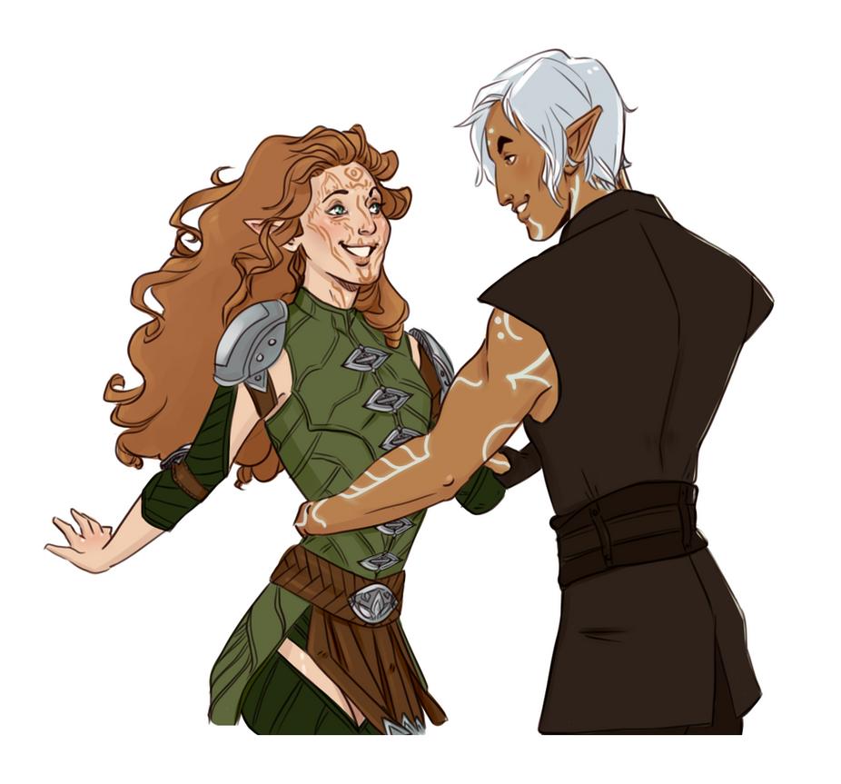Fenris and Lavellan by captainceranna