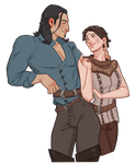 The Warden and Nathaniel Howe by captainceranna
