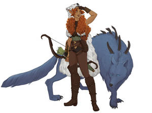Firbolg and Direwolf