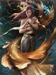 Deep-sea Summoner Martina by ~exes9yui