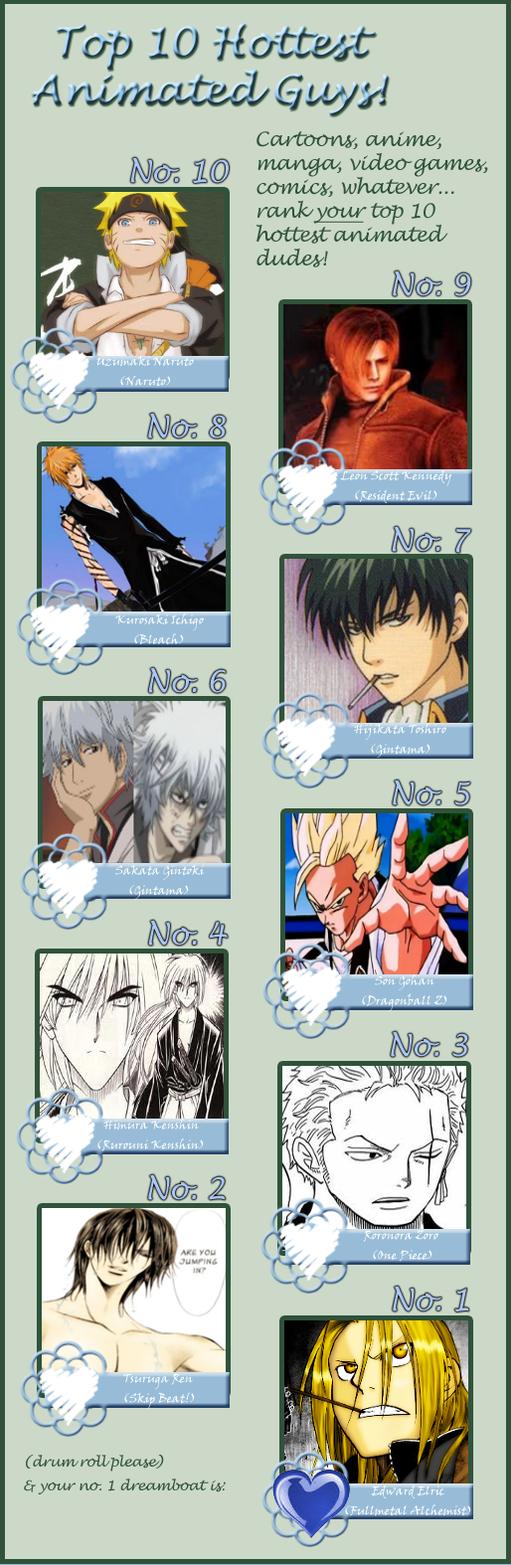 My Top 10 Hottest Anime Guys By Akeyuri On DeviantART