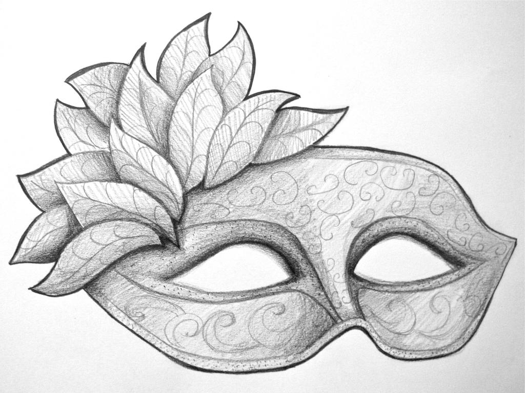 pictures of masquerade mask drawing