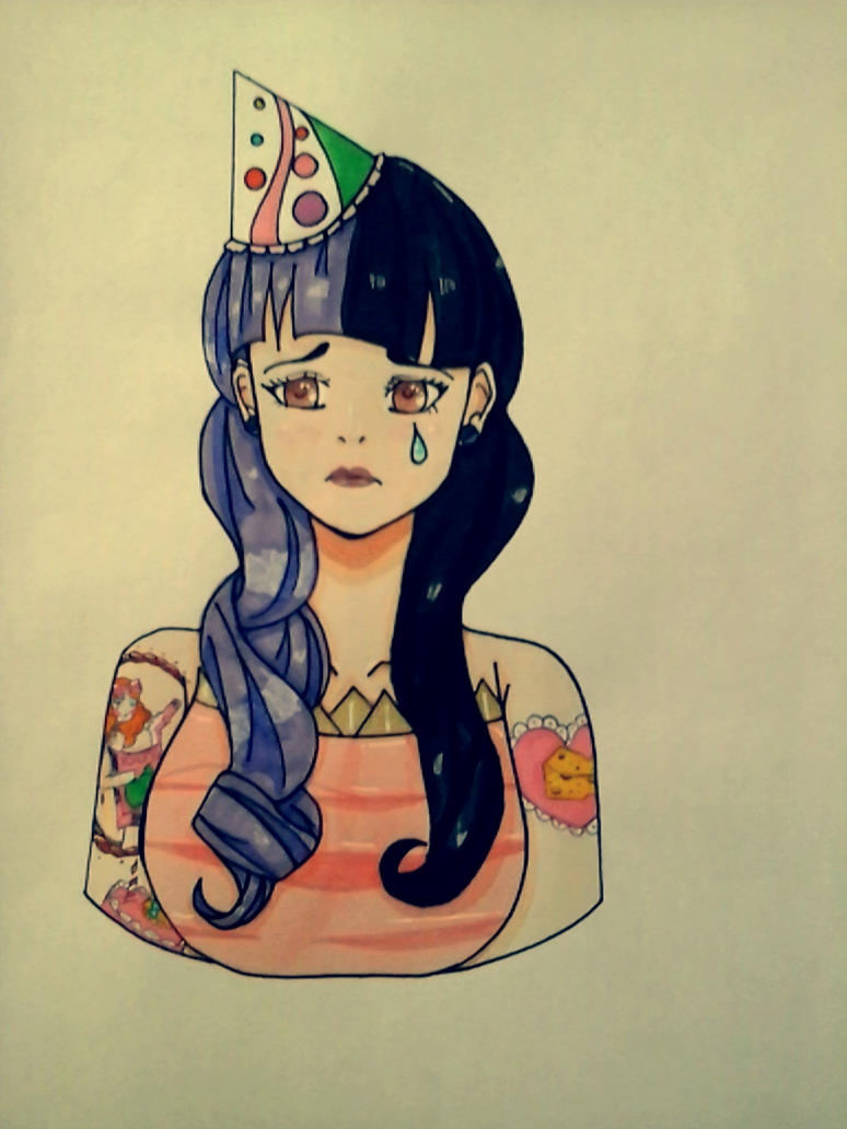 Melanie Martinez Pity Party Fanart By Cosmicowl27
