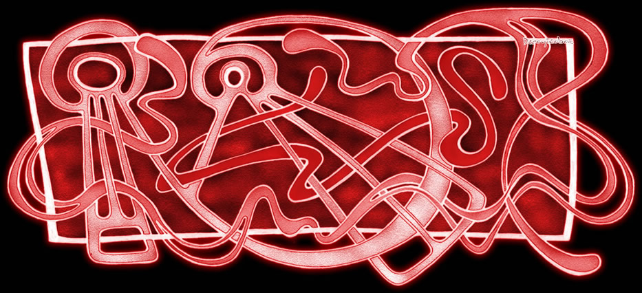 Framed oddity : Red by DecoyRobot
