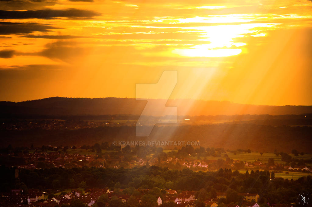Achalm Sonnenuntergang by krankes