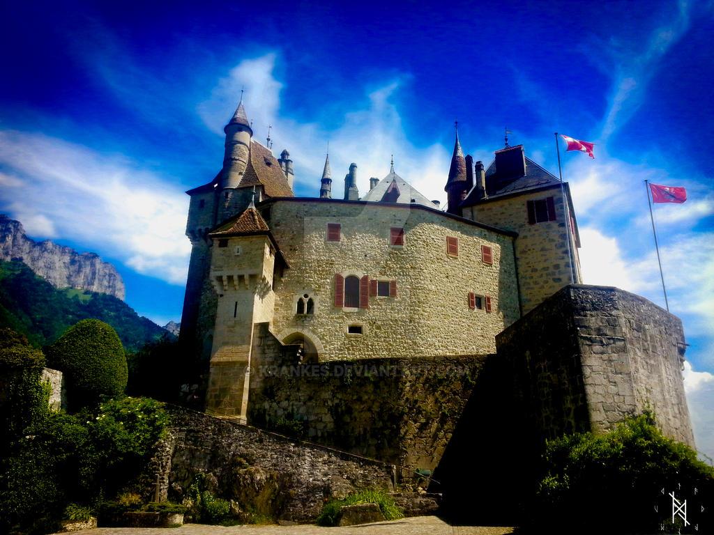 Chateau de Menthon-Saint-Bernard - lac d'annecy by krankes