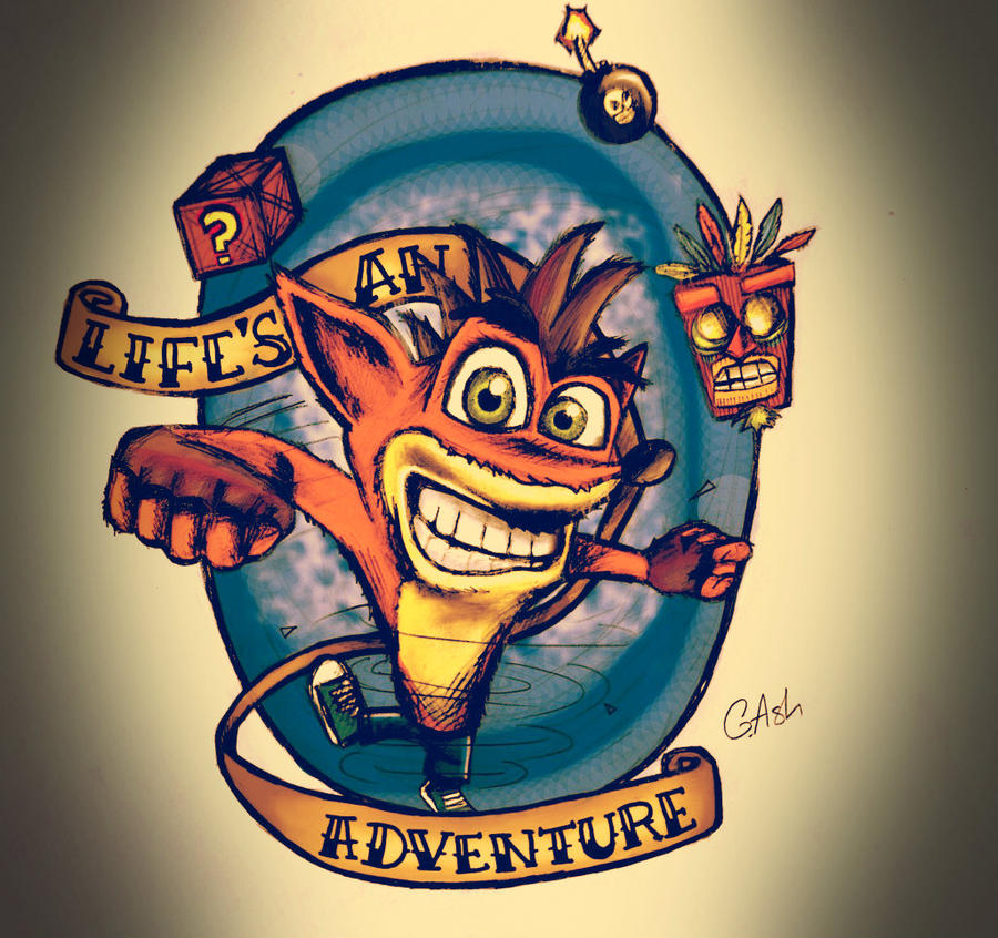 Crash bandicoot tribal tattoo for Crash bandicoot tattoo