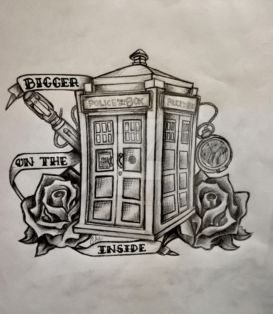 Doctor Who Tattoo By Atacoast Deviantart Com On: Doctor Who 'It's Bigger On The Inside' By Gabsash On