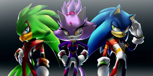 Sonic Echoes Au by KingOfHighlands