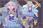 Adopt Action #1 : Aqua fantasy girl theme - 30$ by numfar2547