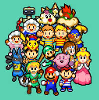 Mario nd Luigi supersmash saga by tebited15