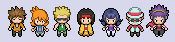 Kanto Gym Leaders BW style
