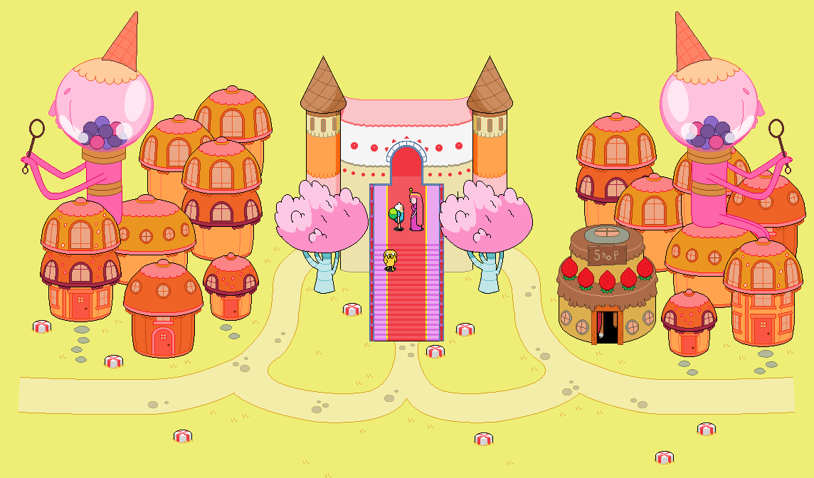 Adventure Time Scenery Candy Kingdom