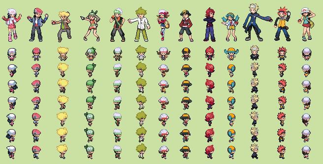 Pokemon Tranier Sprites Favourites By Ruzadong4001 On Deviantart