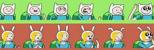 Adventure Time RPG Mugshots: Finn and Fionna