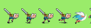 Adventure Time RPG: Finn's sword attack by tebited15