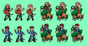 Pokemon X and Y Trainers Sprites