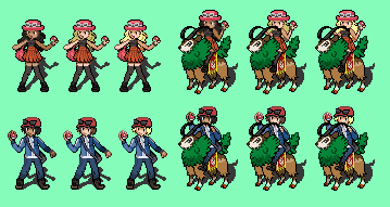 Pokemon X and Y Trainers Sprites by tebited15 on DeviantArt