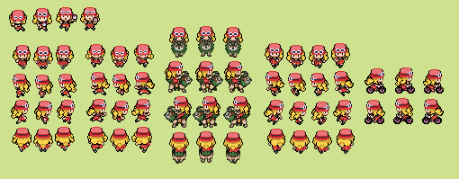 Pokemon Trainer Serena Overworld by tebited15