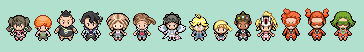 Characters from Pokemon X Y Sprites