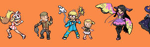 Kalos Gym Leaders Battle Sprites