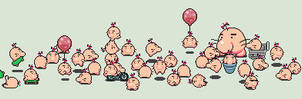 A bunch of Mr Saturn by tebited15