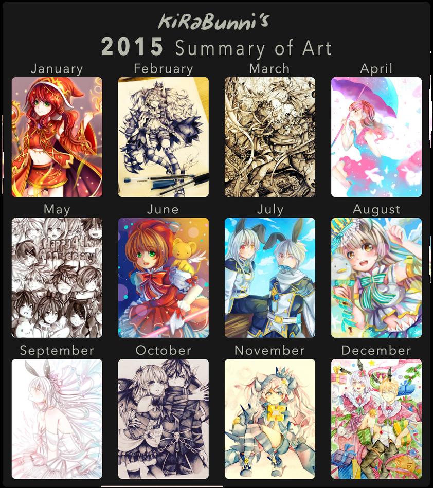 :2015 Art Summary: by kirabunni