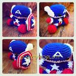 Handmade Amigurumi Chibi Capitan America