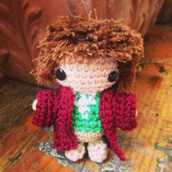 Handmade Amigurumi Bilbo Baggins