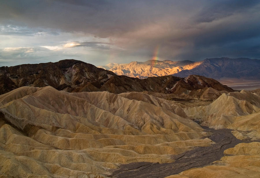 Rainbow Over Death Valley by MirMidPhotos