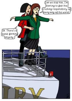 Daria and Jane re-enact Titanic