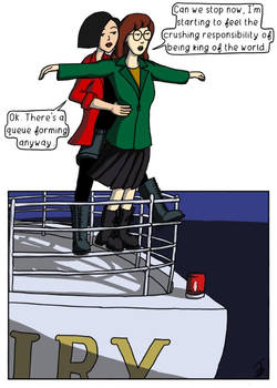 Daria and Jane re-enact Titanic