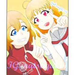 Chika And Honoka by NQ01