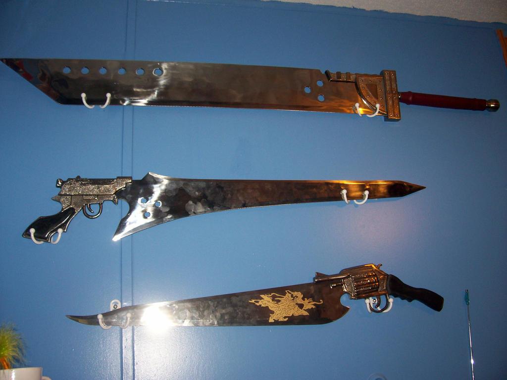 Final Fantasy swords by Sorasgirl24