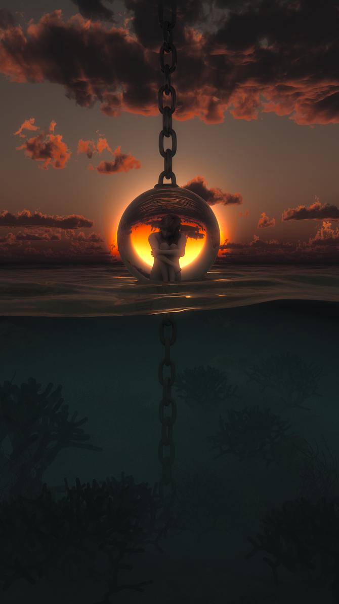 Klaudja in chains by SorinMares