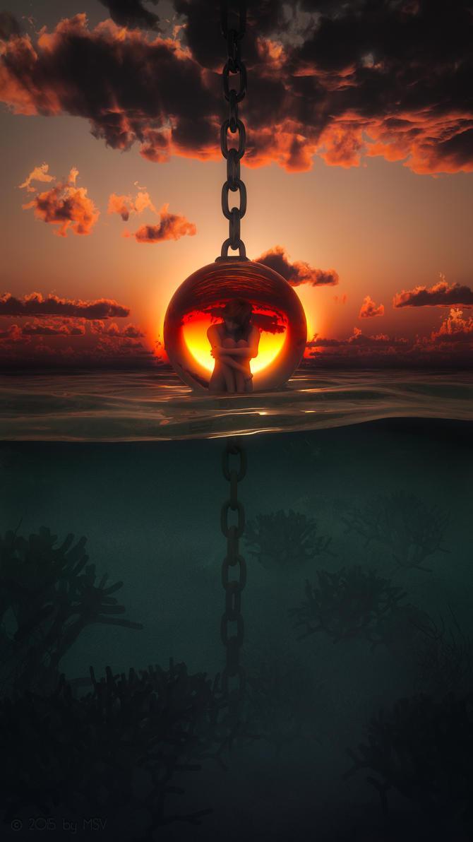 Klaudja in chains - v2 by SorinMares