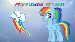 Rainbow Dash Ponytail Wallpaper by brightrai