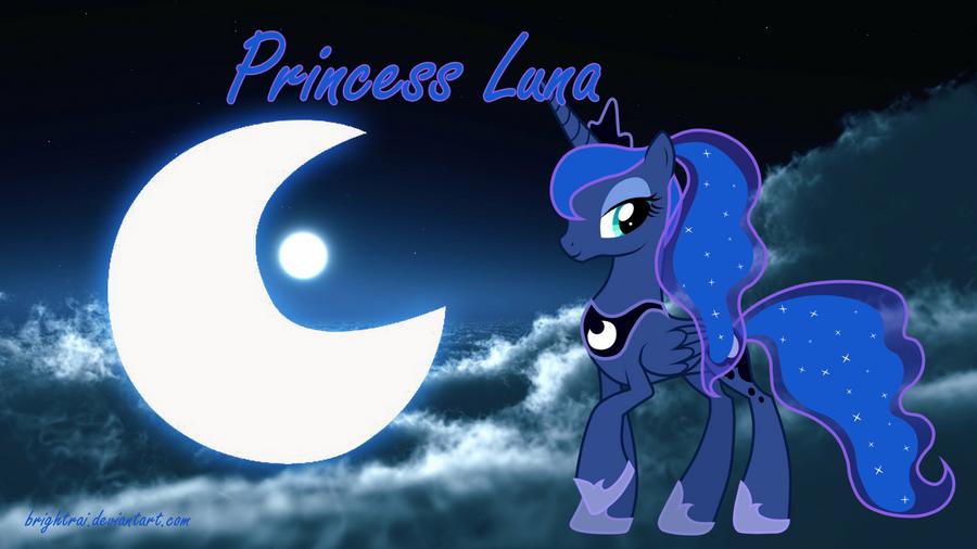 Princess Luna Ponytail Wallpaper by brightrai