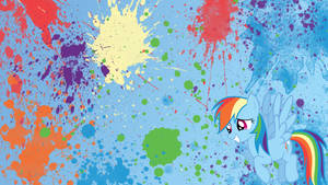 Rainbow Dash Splatter Wallpaper