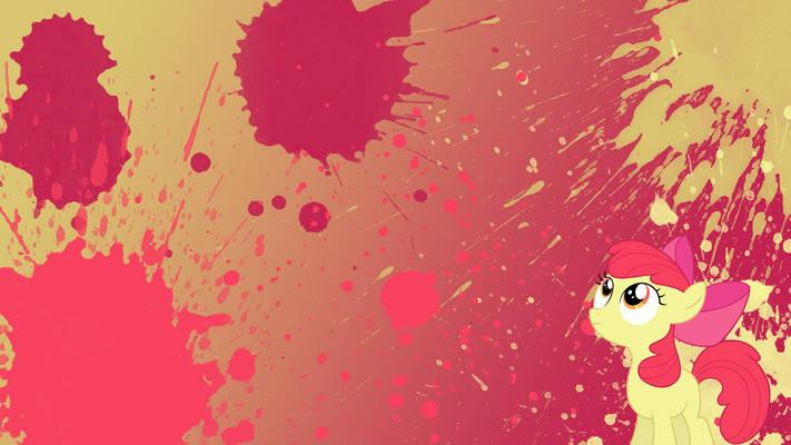 Apple Bloom Splatter Wallpaper