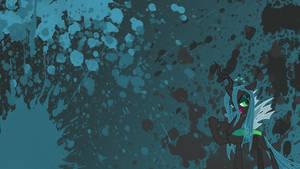 Queen Chrysalis Splatter Wallpaper