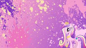 Princess Cadence Splatter Wallpaper