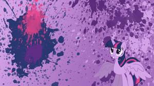 Princess Twilight Sparkle Splatter Wallpaper