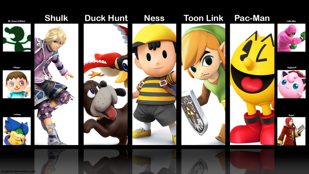 Super Smash Bros 3DS - My Mains and Secondaries by brightrai