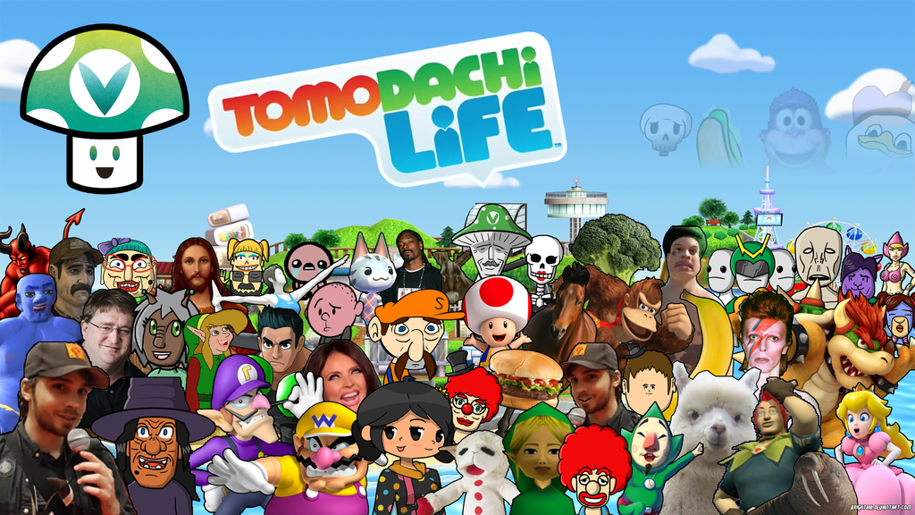 Vinny || Vinesauce Tomodachi Life Wallpaper by brightrai